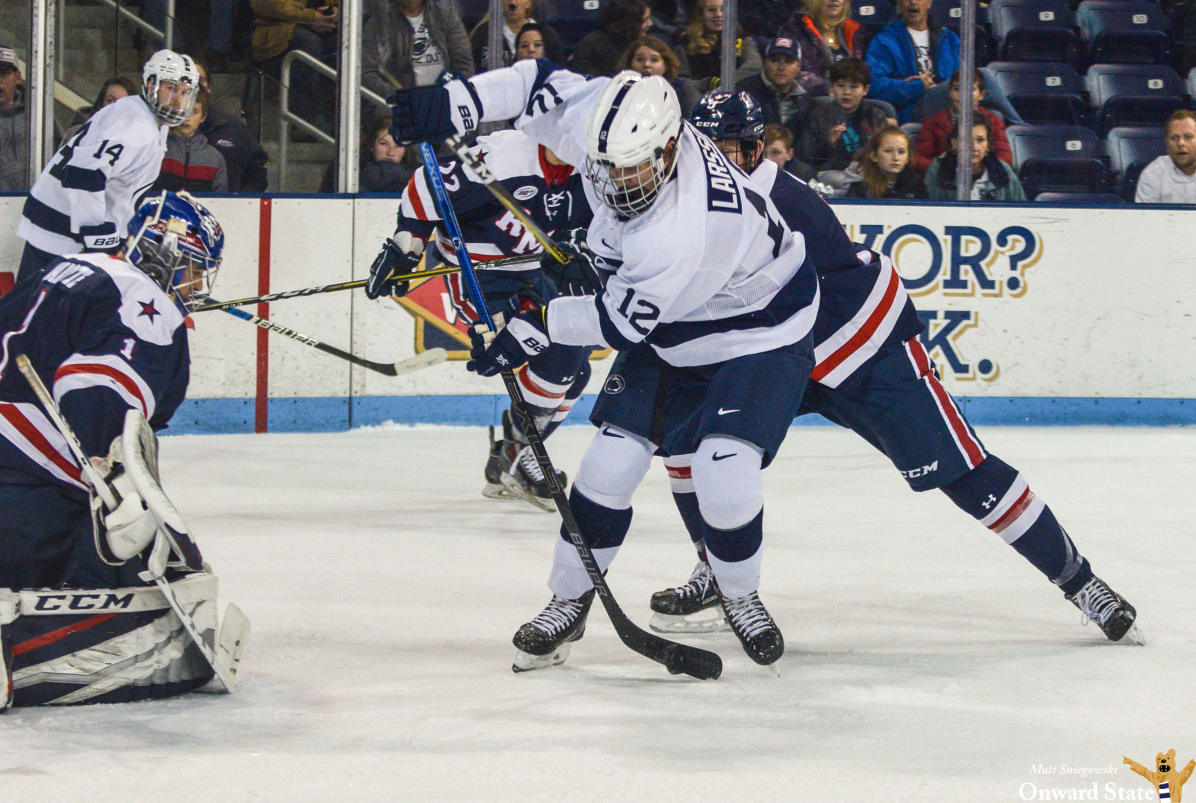 Former Penn State Hockey Center Ludvig Larsson Plays Way Into New Jersey Devils Training Camp Invite