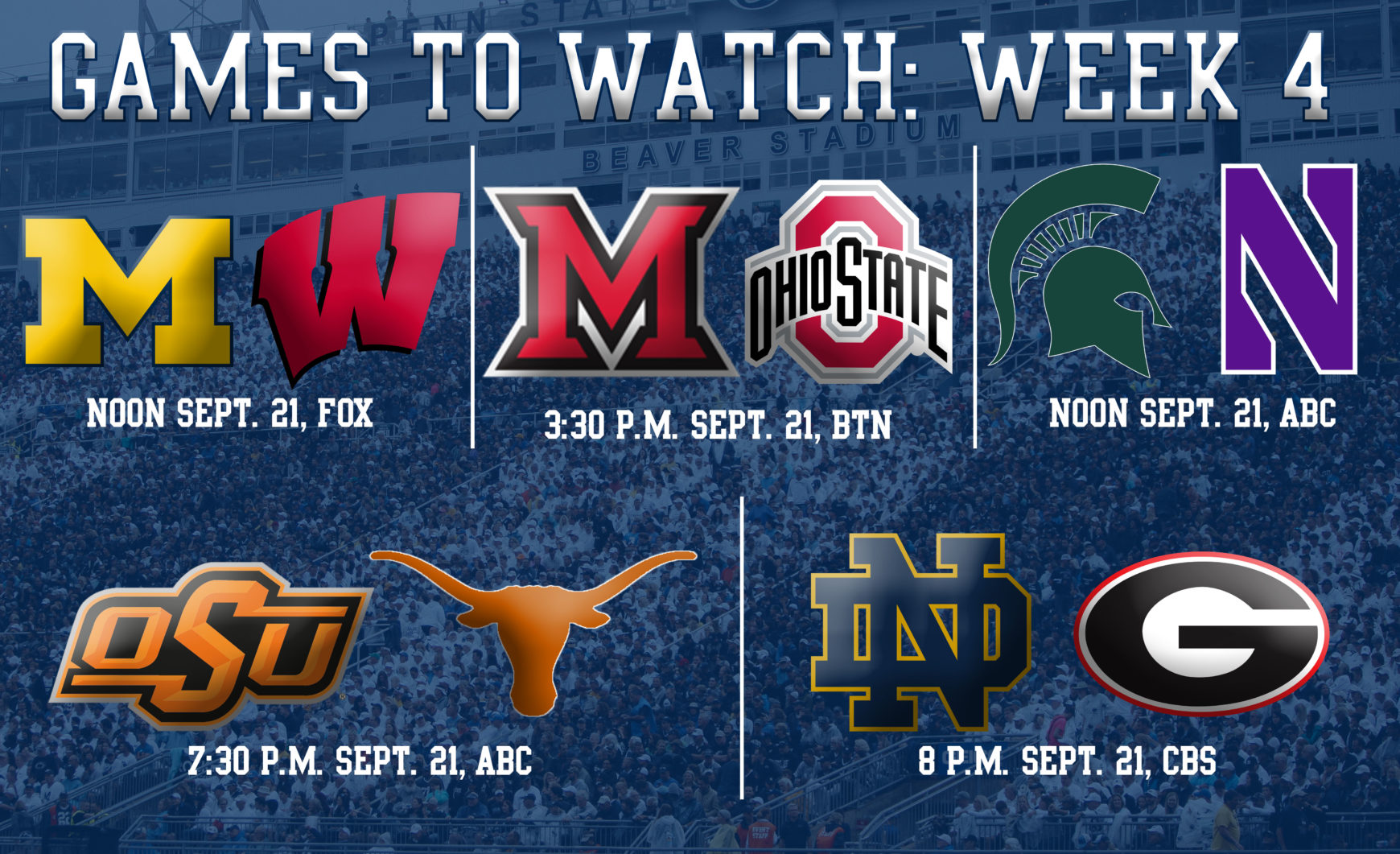 College Football Games To Watch During Penn State's First Bye Week