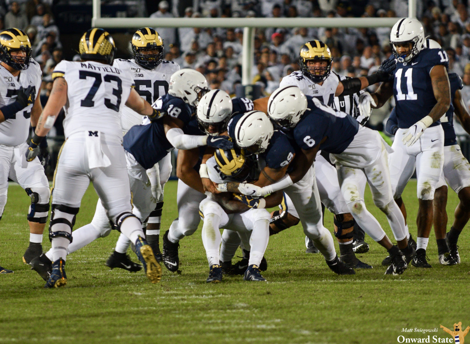 Penn State Linebackers Step Up When Needed In White Out ...