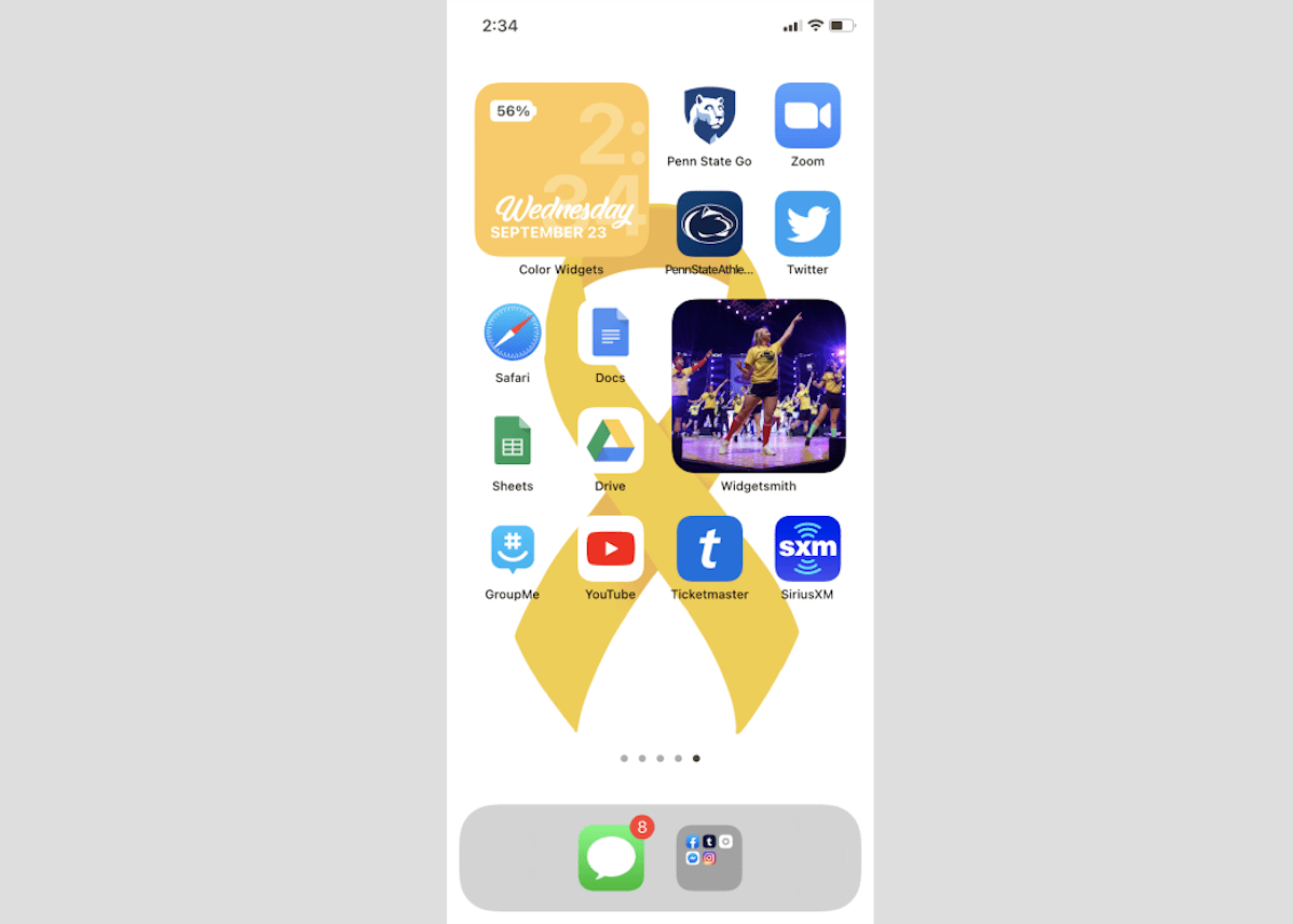 Penn State Themed Ios 14 Designs Onward State